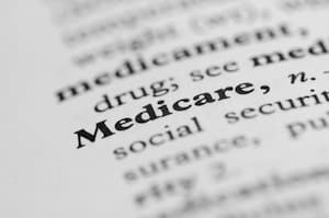 Medicare funding in a dictionary.