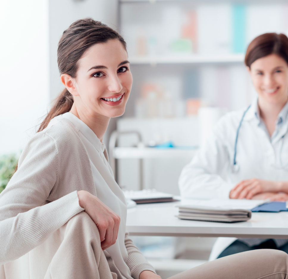 medical biller meeting with physician